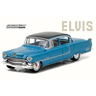 Greenlight 1955 Cadillac Fleetwood 60, Elvis Presley, Blue 44760 - 1/64 Scale Diecast Model Toy Car: Toys & Games