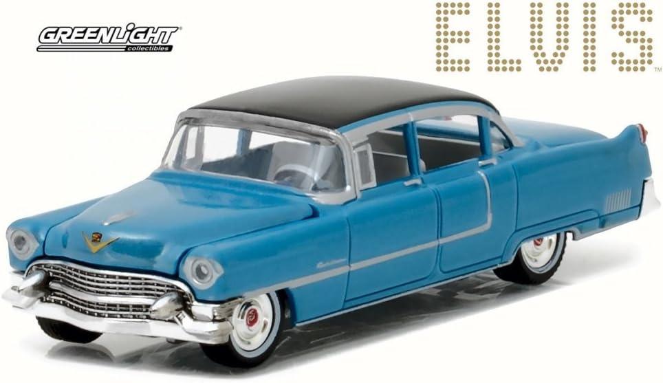 1955 Cadillac Fleetwood Series 60 /& Elvis Presley Figur 1:64 GreenLight 51210