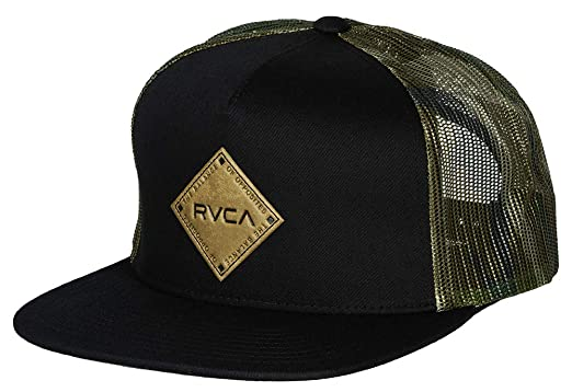 on sale 99231 f5b38 RVCA Men s Finley Trucker Hat, Black Camo, One Size