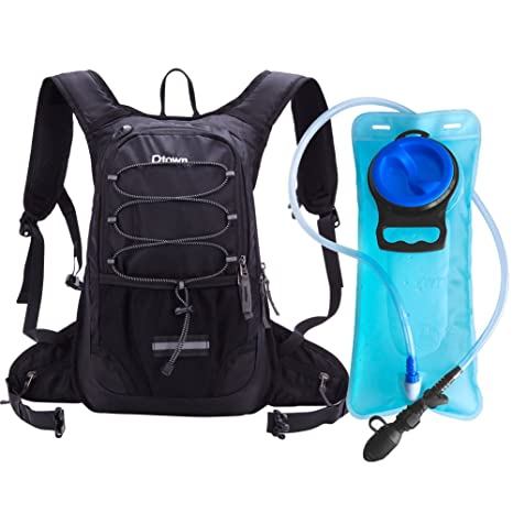 56823777e2 Dtown Camel Back Hydration Backpack for Hiking Biking or Running with 2L  Water Bladder