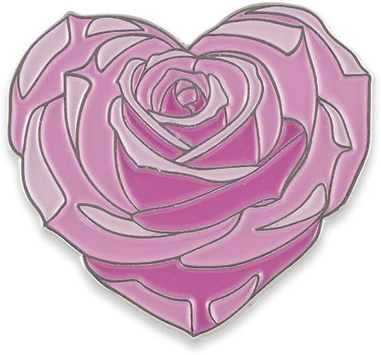 "PinMart/'s Colored Red Rose Flower Enamel Lapel Pin 1/"""