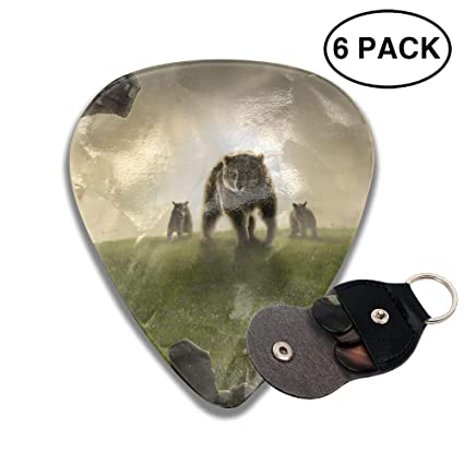 Amazon com: Karen Felix Classic Guitar Pick (6 Packs) Land Bear