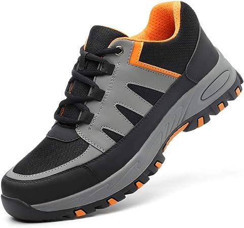 XBXZ Zapatos de Seguridad Puntera de Acero Liviana a Prueba de Aire, Zapatillas de Seguridad antipaladas, Zapatos de Seguridad para Hombres y Mujeres Botas de Trabajo (Color : A, Tamaño : 45):