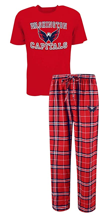 07256646e555bb Image Unavailable. Image not available for. Color: Concepts Sport Washington  Capitals NHL Great Duo Men's T-Shirt & Flannel Pajama Sleep Set