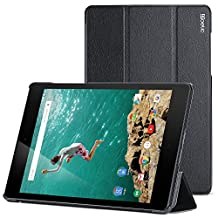 Nexus 9 Case - Poetic Google Nexus 9 [Slimline Series] - Synthetic Leather Slim Smart Cover Case for Google Nexus 9 (2014) Black (3-Year Manufacturer Warranty From Poetic)