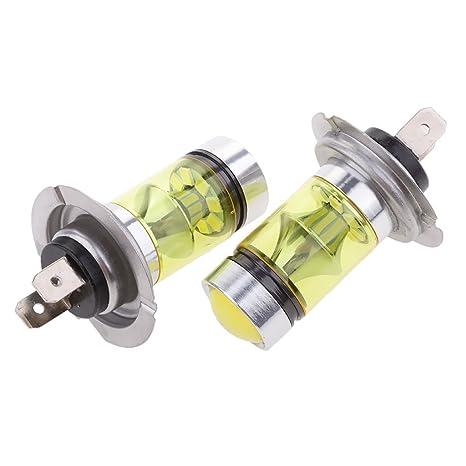 Dovewill - 2 bombillas LED para faros delanteros de coche, color amarillo H7, 100