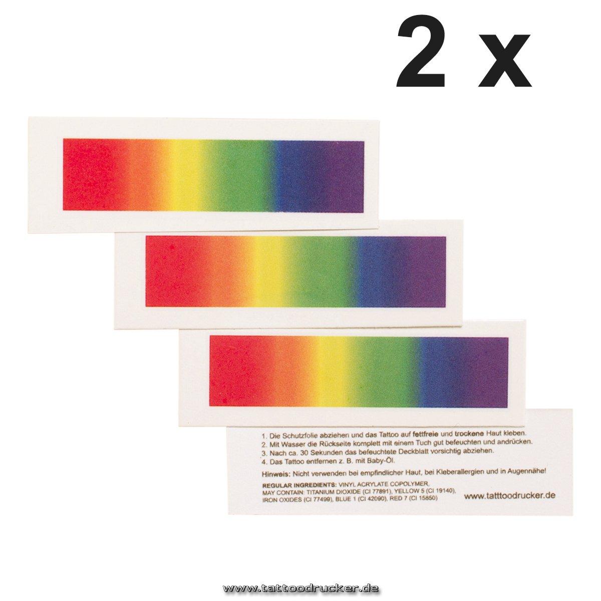 Arco Iris Tattoo Tiras – para CSD, LGBT, gay, 2 x Regenbogen ...