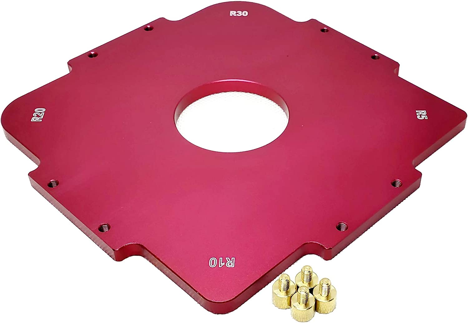 Aluminium Alloy Foam Insert Table Radius Quick-Jig Router Bit Templates For Routing Rounded Corners R5 R10 R20 R30