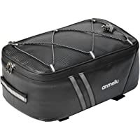 Fietskoffer, 8 liter, bagagedrager achteraan, PU-lederen fietskoffer, mountainbike-bagagetas met regenbescherming