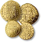 Pirate Dubloons, Set of 5 Replica Coins