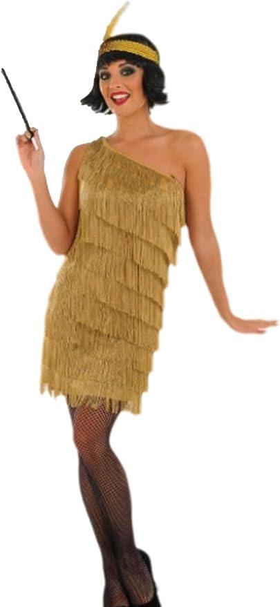 erdbeerloft – Mujer Oro Flapper Charleston 20 años Disfraz, M ...