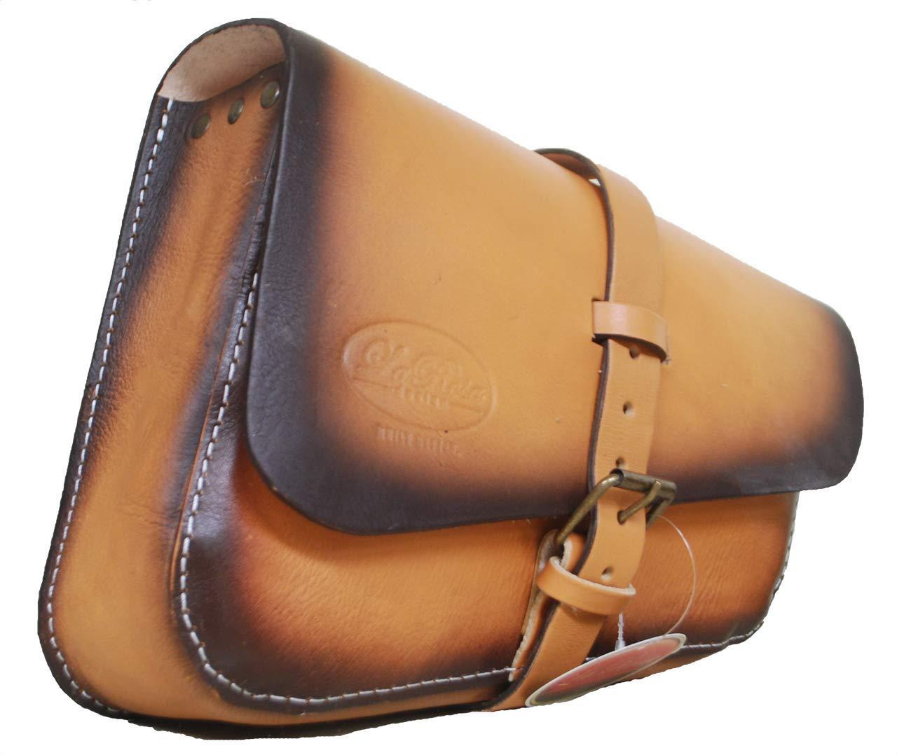 Antique Tan La Rosa Design Left Side Solo Saddle Bag for 2016 /& Up Triumph Bobber