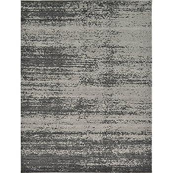 Amazon Com Over Dyed Modern Vintage Rugs Dark Gray 9 X