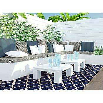 Gertmenian Brown Jordan Prime Label Outdoor Furniture Rug 8x10 Seneca  Collection Blue Sisal Woven Modern Patio