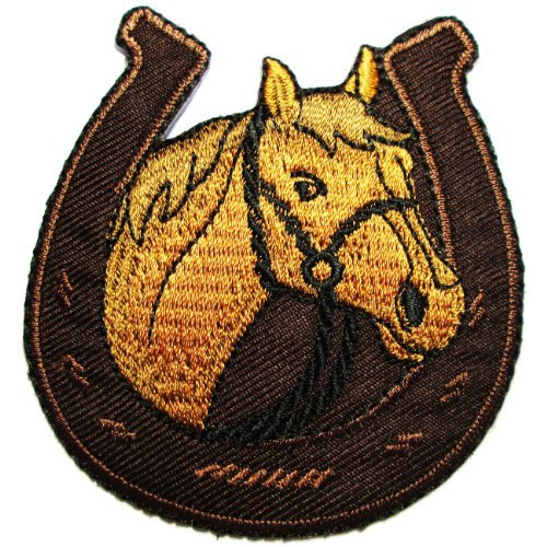 (Horse Equestrian/horseshoe Embroidered Iron on)