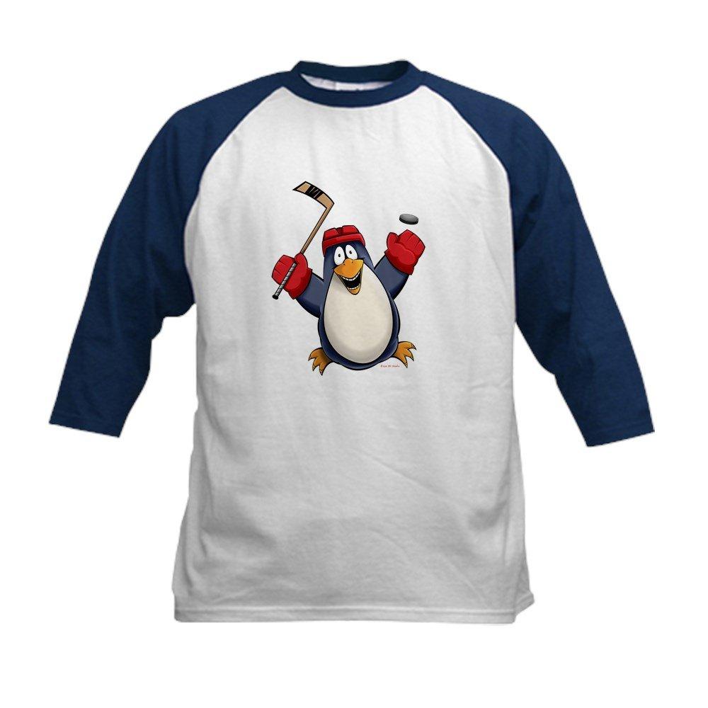 44d678f3 Top1: CafePress - Hockey Penguin Kids Baseball Jersey - Kids Cotton  Baseball Jersey, 3/4 Raglan Sleeve Shirt