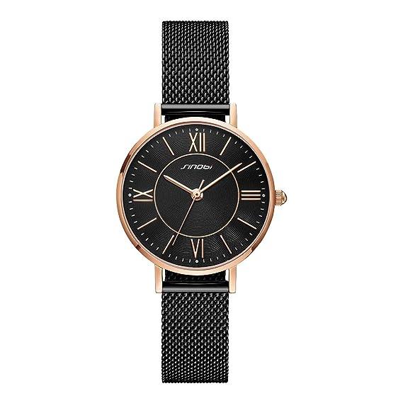 SINOBI Reloj de Pulsera para Mujer con diseño Creativo y Sencillo ...