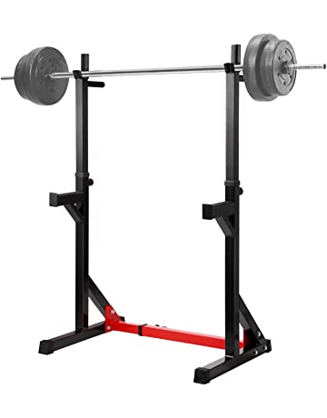 Ollieroo Multi-Function Barbell Rack Dip Stand Gym Family Fitness Adjustable Squat Rack Weight Lifting