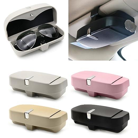 c3f44f7aa9 Wodwad Auto Car Glasses Clip Ticket Card Clamp ABS Visor Sunglasses Holder  Accessories (Black)