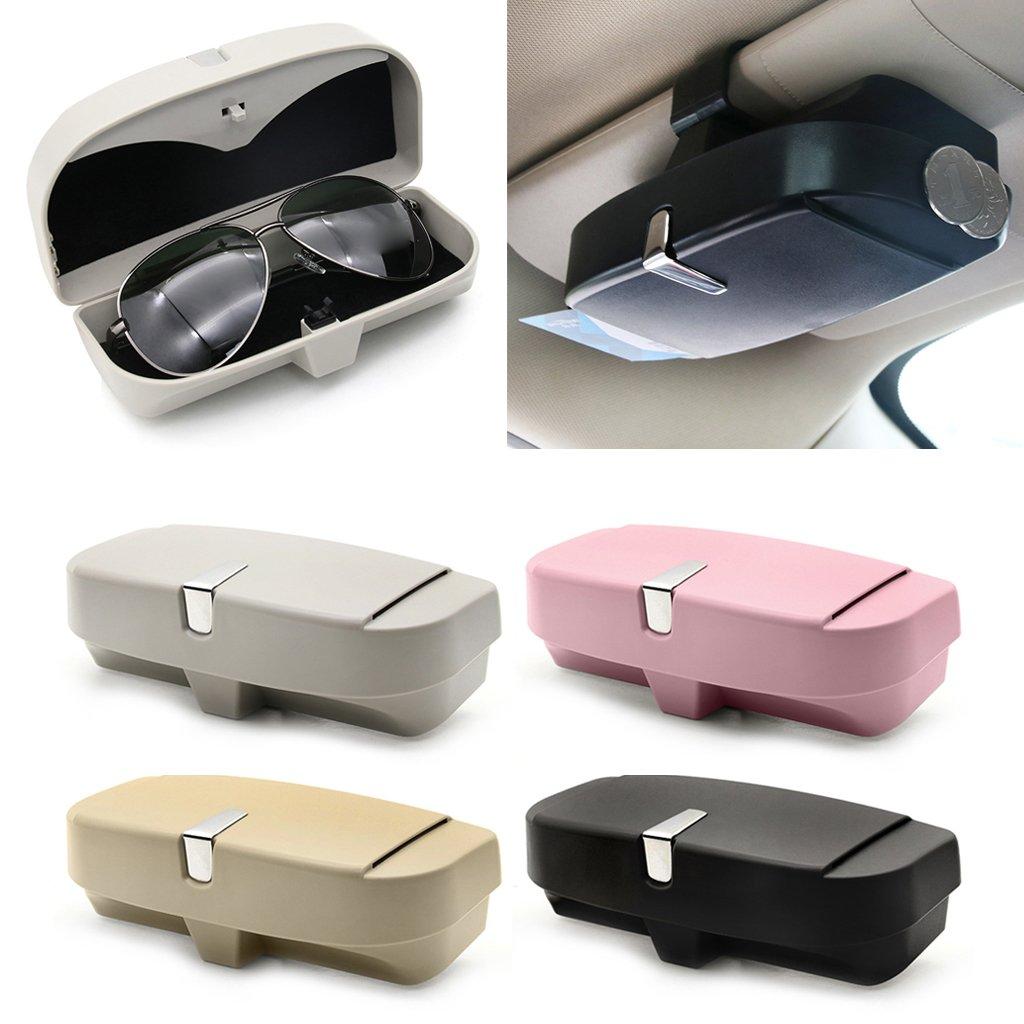 EA-Stone Glasses Holders Box for Car Sun Visor,Car Glasses Box Glasses Organize Case (Black)