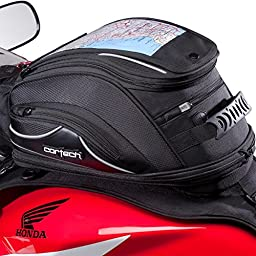 Cortech Super 2.0 10L Strap Mount Motorcycle Tank Bag - Black / One Size