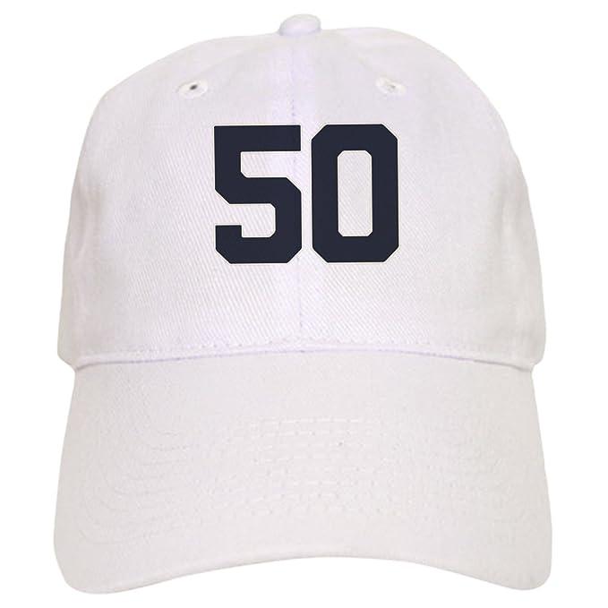 238a74465 Amazon.com: CafePress - 50 50Th Birthday 50 Years Old - Baseball Cap ...