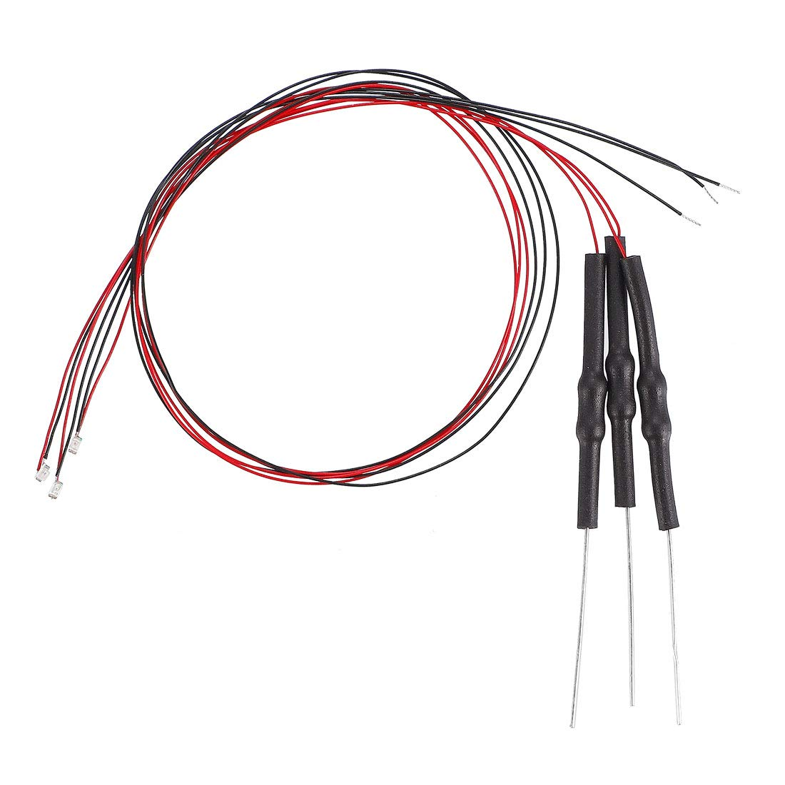 Dc 6-18v Micro Wired Soldered Mini LED Lights with Resistor uxcell 3pcs Prewired 0402 Red Smd LED Light Emitting Diode