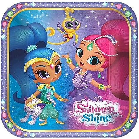 Amazon.com: Shimmer y Shine Fiesta de cumpleaños suministros ...