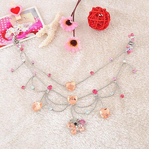 Generic Pop princess chain forehead children small gripper chain diamond crown tiara dance headdress bride dish hair hair accessories