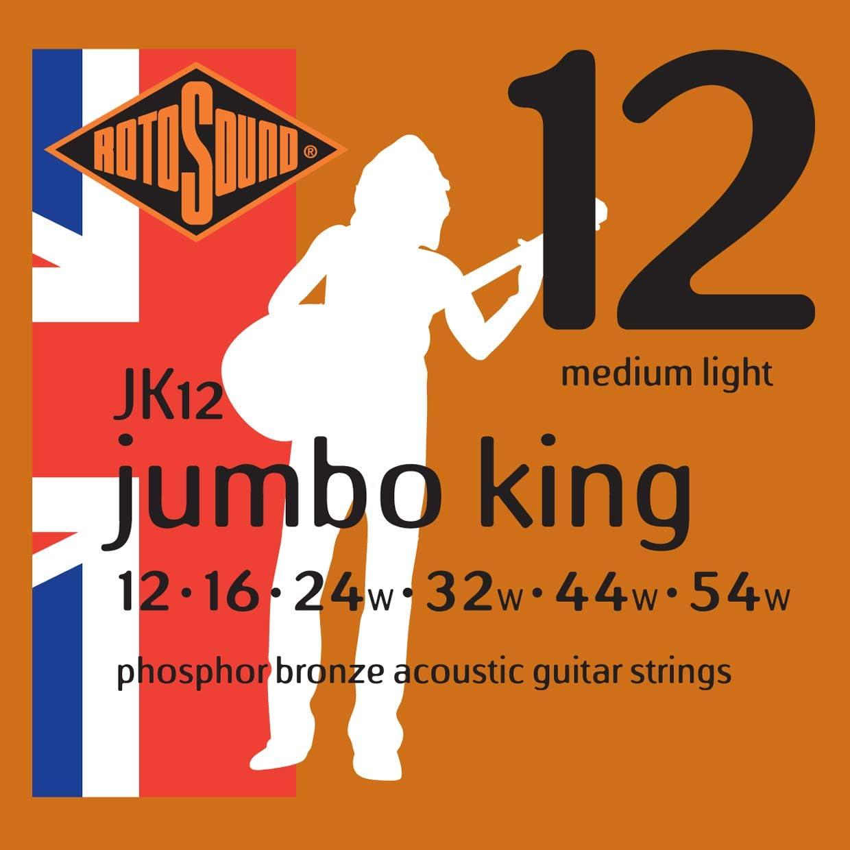 Rotosound JK12 - Juego de cuerdas para guitarra acústica