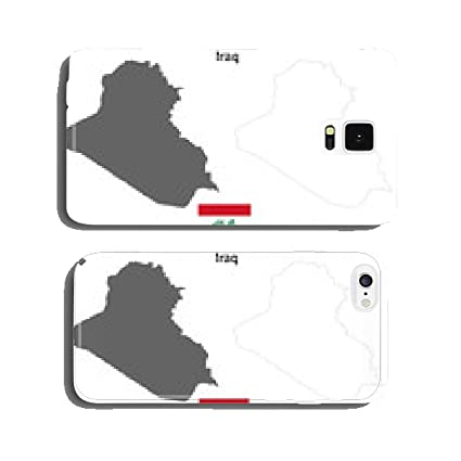 Blank detailed outline maps of Iraq cell phone cover case Samsung S5
