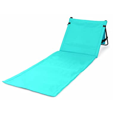Bo-Toys Portable Beach Mat Lounge Chair and Tote by (Plain Blue)