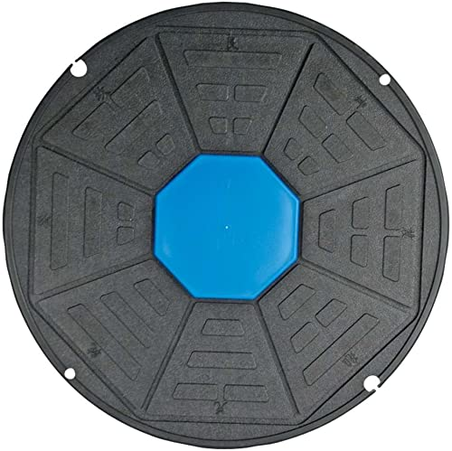Power Systems 2-In-1 VersaBalance Board, 16.5 Inch Round Balance Board with Two Degrees of Difficulty, Black Blue 80390