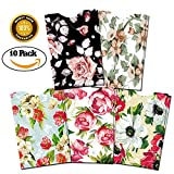RFID Blocking Sleeves (10 RFID Blocking Sleeves, 5 Unique Designs) Identity Theft Protection Travel Case Set - Vintage Floral