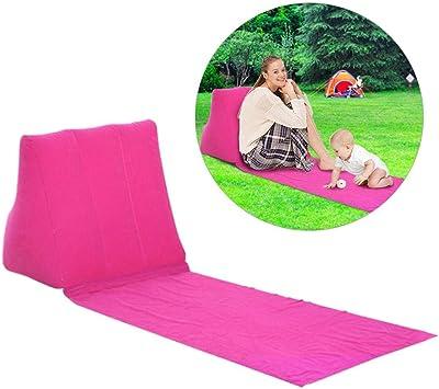 soundwinds - Tumbona Hinchable portátil para Playa, Cama de jardín, Cama Triangular, colchoneta para el Sol, cojín para Picnic, Acampada, Rosa (b): Amazon.es: Deportes y aire libre