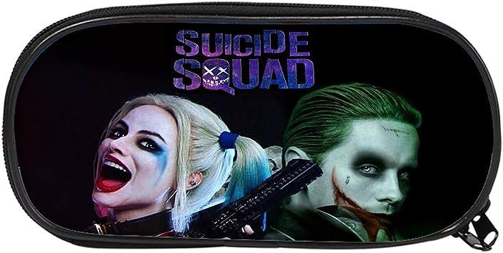 Suicide Squad Estuche de Lápices Caja de Almacenamiento Caja de lápiz de la Escuela del Estudiante