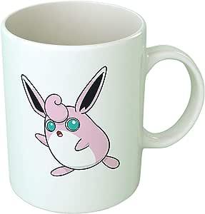 Upteetude Pokemon Wigglytuff Printed Ceramic Mug, White