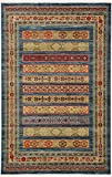 Tribal Rug Modern Tribal 5 feet by 8 feet (5' x 8') Nomad Blue Contemporary Area Rug