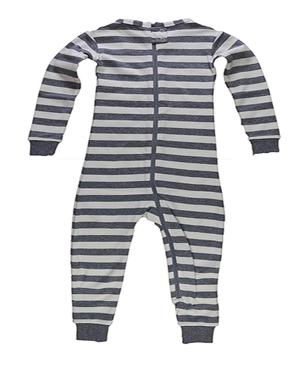 Little Keeper Sleeper Girls Short Sleeve Zippered Back Inescapable Pajamas