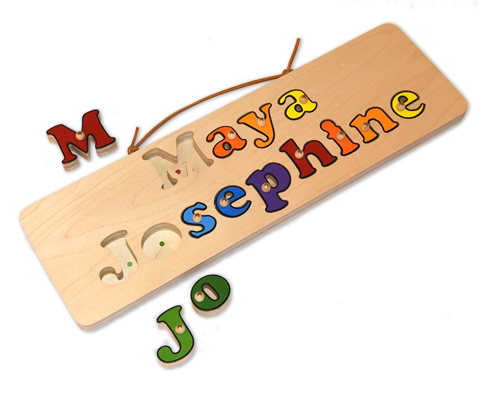2 Name Personalized Wooden Name Puzzle