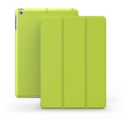 KHOMO Funda iPad Air 1 - Carcasa Verde Protectora Ultra Delgada y Ligéra con Smart Cover y Soporte para Apple iPad Air 1 - Dual Green