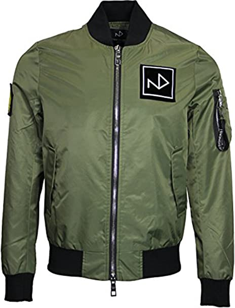The New Designers - Chaqueta - universidad - para hombre verde Verde De Color Caqui X-Large: Amazon.es: Ropa y accesorios