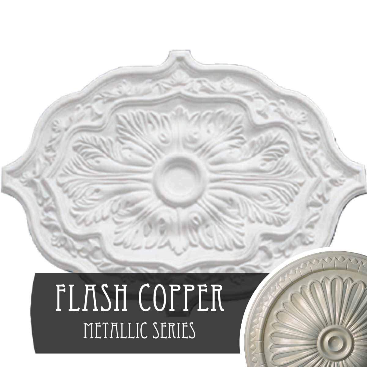 Ekena Millwork CM36PE 36 OD x 1 1//2 P Pesaro Ceiling Medallion Primed
