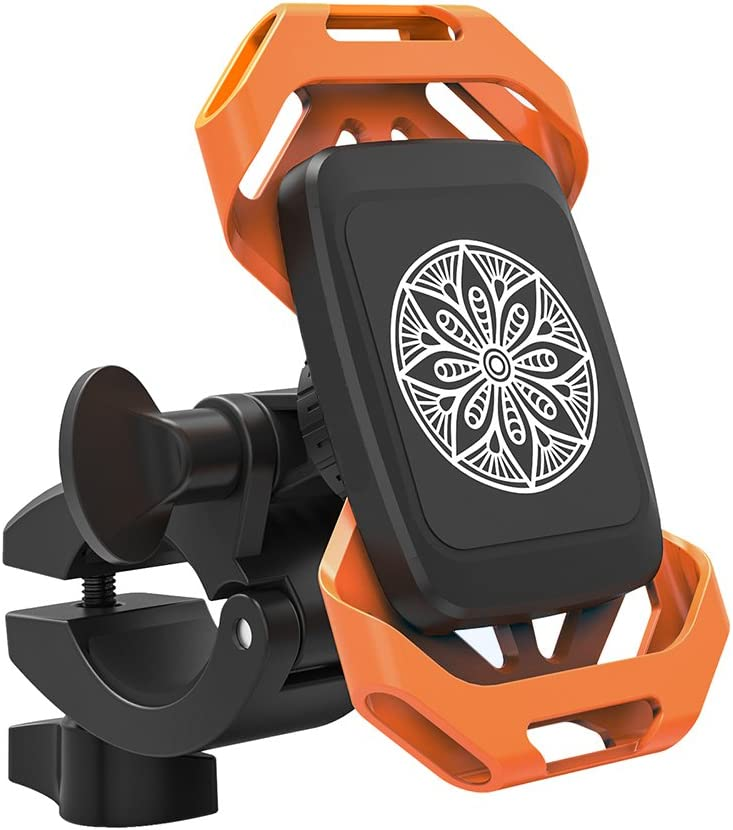 TaoTronics Phone Holder for Bike, Bike Phone Mount with Dual Strap & Magnet Support, Magnetic Bicycle Phone Holder, Motorbike Mount for Both Smartphone and Action Camera