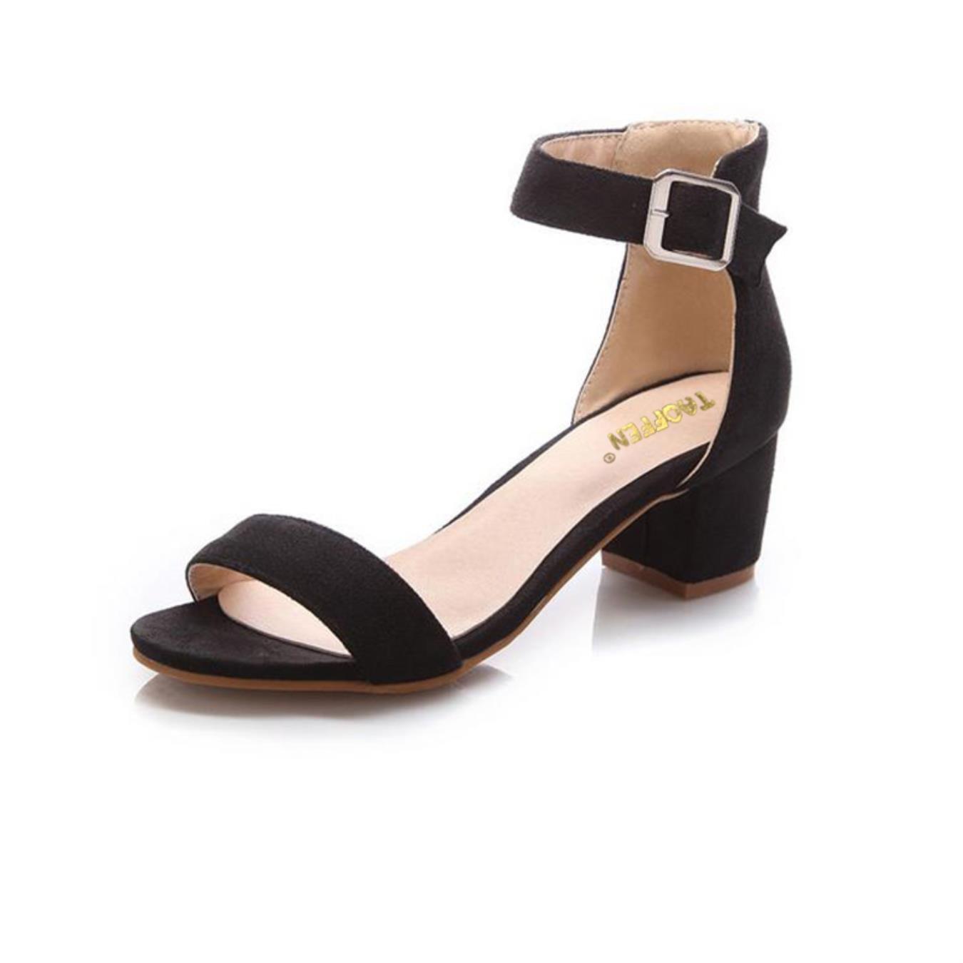 : TAOFFEN Women High Heel Sandals Women Open Peep