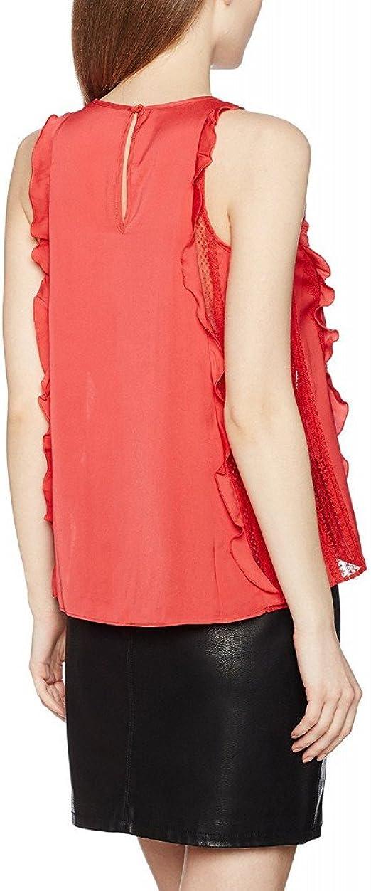 Guess W64H44W7VP0, Blusa para Mujer, Rojo (Tulip Puree), X ...