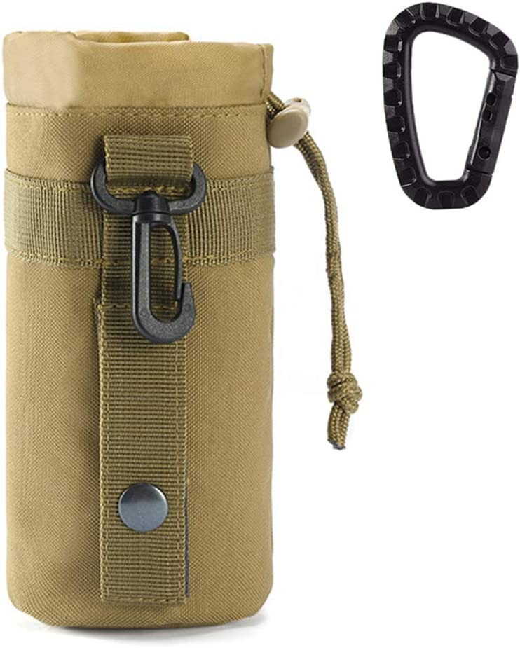 Outdoor Military Molle System Water Bottle Bag Kettle Pouch Holder Camping Equip