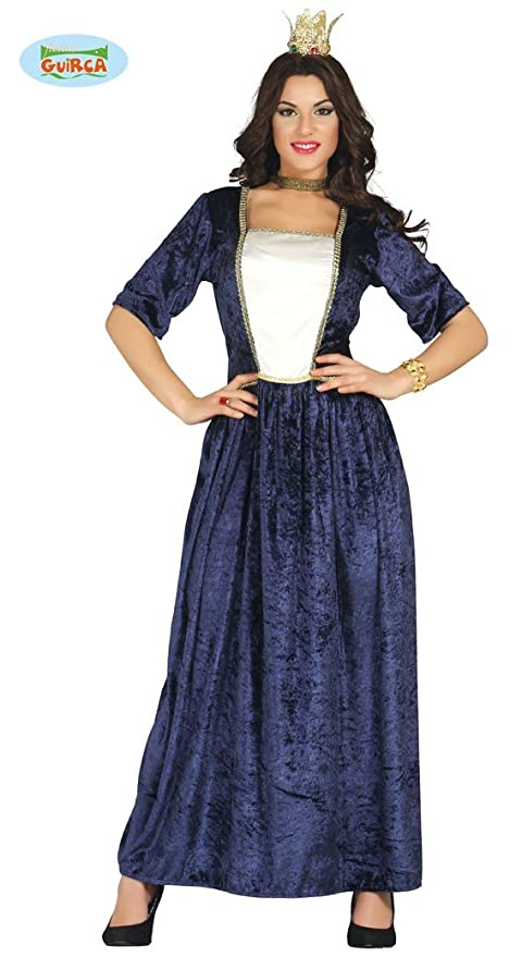 ab2fbdf2374e Guirca Costume vestito dama regina medievale carnevale donna 88104 ...