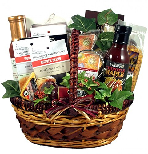 Grill Master Gift Basket | Meat, Cheese, Nuts and More (Outdoor Gift Basket)
