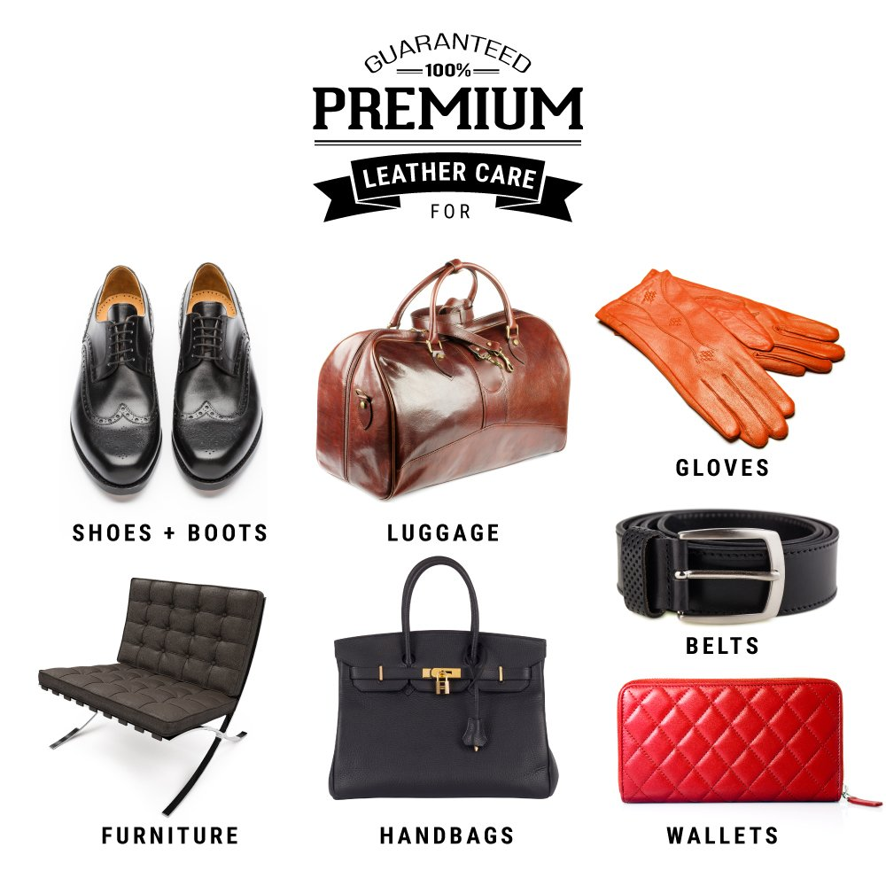 Premium Leather Shoe Cleaner and Conditioner Cleaning Kit | Cloths for Restore, Protect and Care by Simple Shine (Image #4)